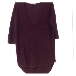 Express Sweaters - Express hi-lo dolman sleeve sweater